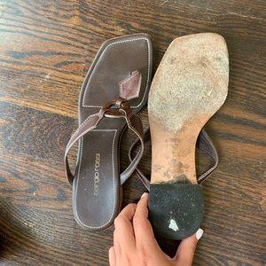 Sergio rossi flip flops